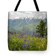 Olympic Mountain Wildflowers Tote Bag