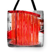 Olympic Neon Flame Tote Bag by Rona Black