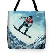 Olympic Snowboarder Tote Bag