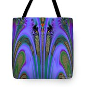 Olympic Torch And Fireworks Fractal 162 Tote Bag