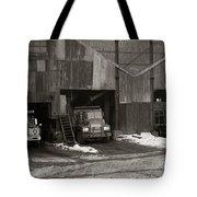 Olyphant Pa Coal Breaker Loading Trucks And Gondola Car Winter 1971 Tote Bag