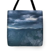 Ominous Clouds Over Glacier Point Tote Bag