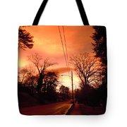 Ominous Orange Skies 1 Tote Bag