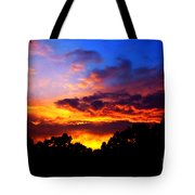 Ominous Sunset Tote Bag