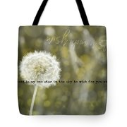 On A Breeze Quote Tote Bag