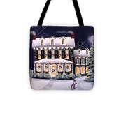 On A Cold Winter Evening Tote Bag