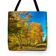 On A Country Road 4 - Paint Tote Bag
