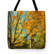 On A Country Road 5 - Paint Tote Bag