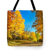 On A Country Road 6 - Paint Tote Bag