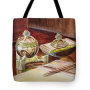 On A Desk At Eugene O Neill Tao House Tote Bag