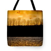 On A Golden Lake Tote Bag