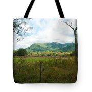 On A Hill Far Away Tote Bag