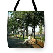 On A Moscow Bench Tote Bag