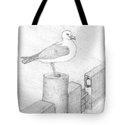 On A Perch Tote Bag