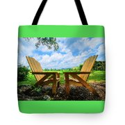 On A Pretty Summer Day Oil Painting Tote Bag