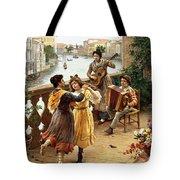 On A Venetian Balcony Tote Bag