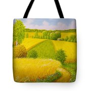 On August Grain Fields Tote Bag