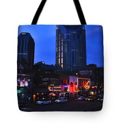 On Broadway In Nashville Tote Bag