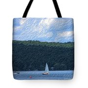 On Cayuga Lake Tote Bag