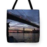 On Duty By Brooklyn Bridge New York Tote Bag