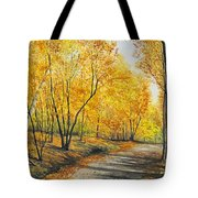 On Golden Road Tote Bag
