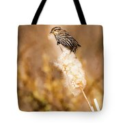 On Her Perch Tote Bag