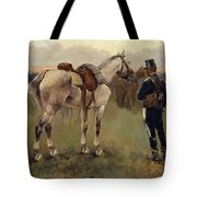 On Patrol In The Country Tote Bag