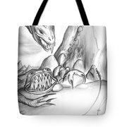 On Planet Of Monsters Tote Bag