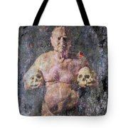 On The Altar Of Skull Carson #3. A Self-portrait, 2016 Tote Bag
