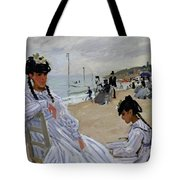 On The Beach At Trouville Tote Bag