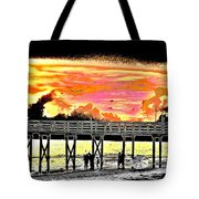 On The Beach Tote Bag by Bill Cannon