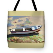 On The Beach Mykonos Greece Tote Bag