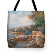 On The Beach Of Abbazia Tote Bag