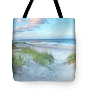 On The Beach Watercolor Tote Bag