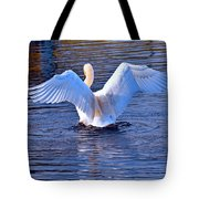 On The Blue Side  Tote Bag