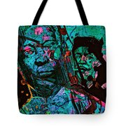 On The Blues Highway With Leadbelly And Muddy Waters Tote Bag