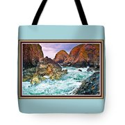 On The Coast Of Cornwall L B With Decorative Ornate Printed Frame. Tote Bag