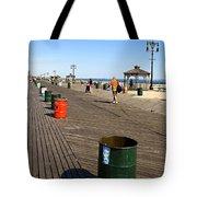 On The Coney Island Boardwalk Tote Bag