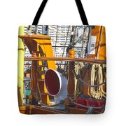 On The Deck Of James Craig Tote Bag