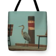 On The Dock With Heron Tote Bag