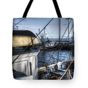On The Docks In Provincetown Tote Bag