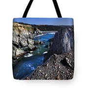 On The Edge Of The Blue Lagoon Tote Bag