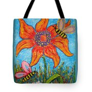 On The Flower Tote Bag