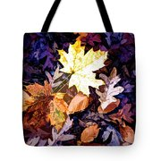 On The Forest Floor Vivid Colors Tote Bag