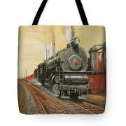 On The Great Steel Road Tote Bag by Christopher Jenkins