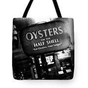On The Half Shell - Bw Tote Bag