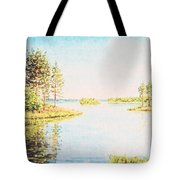 On The Lake In A Sunny Day Tote Bag