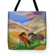 On The Mountian Tote Bag