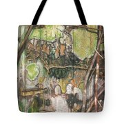 On The Outer - Tree Trunk Extracts - Section Detail II Tote Bag