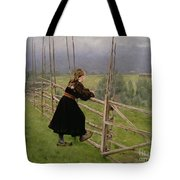 On The Plain Tote Bag by Karl Fredrick Nordstrom